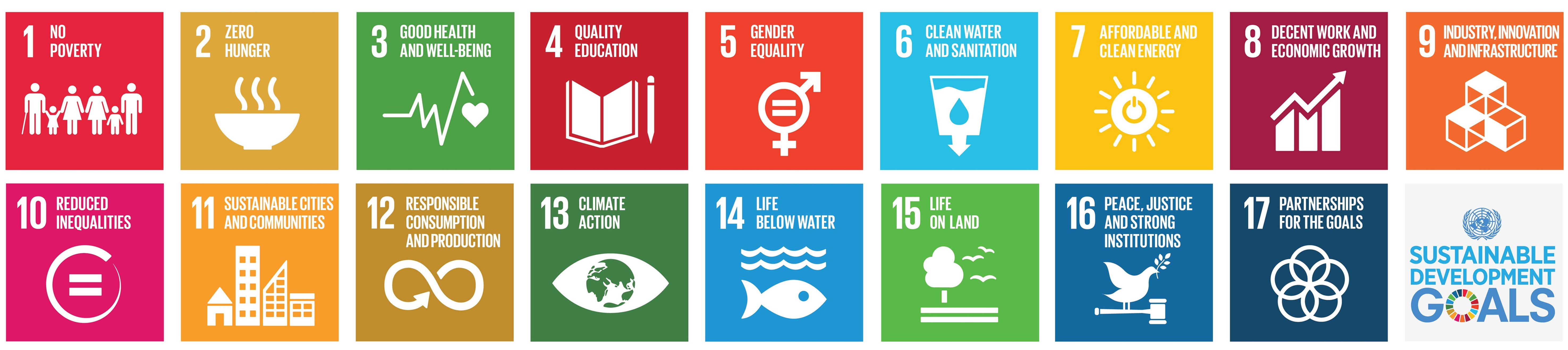 SDG icons and logo